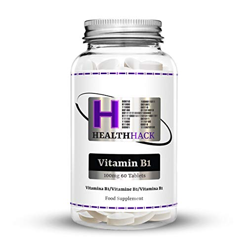 Health Hack Vitamin B1 (Thiamine), 100 mg, 60 Tablets