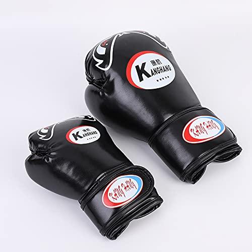 RGXY Guantes de Boxeo para Hombres y Mujeres con sensación Premium para el Entrenamiento y la Competencia del Gimnasio del hogar,Negro