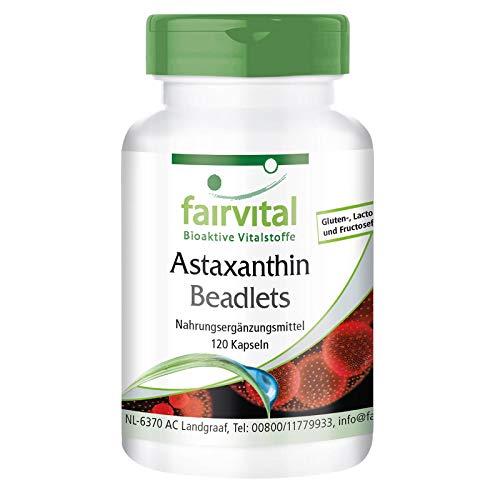 Astaxantina 45mg natural - Altamente dosificado - 120 cápsulas - microencapsulado en perlas AstaPure - ¡Calidad Alemana garantizada!