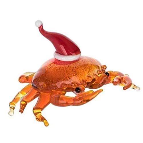 Beachcombers B22421 Holiday Crab Mini-Glasfigur, 7 cm Länge