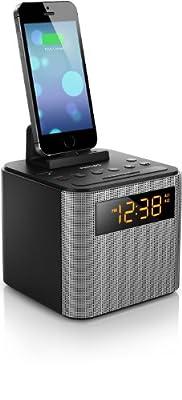 Philips AJT Bluetooth Dual Alarm Clock Radio iPhone/Android Speaker Dock Speakerphone Microphone …