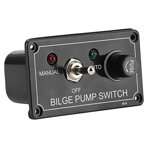 Panel de interruptores de palanca para yates Interruptor de bomba de achique Anticaídas Resistente a la suciedad para Ocultar los viejos arañazos para una conducción relajada