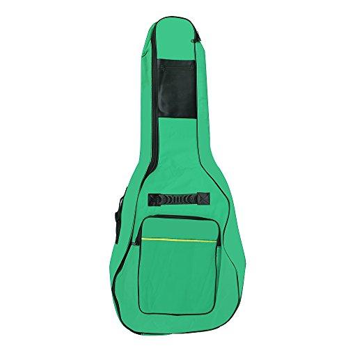 Funda para guitarra acústica y clásica de tamaño completo de Accessotech, con acolchado y asa, verde