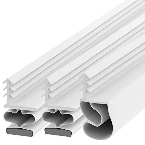 """TMH Magnetic Kerf Weather Stripping for Metal Doors - Full Set 36"""" x 84"""" [White]"""