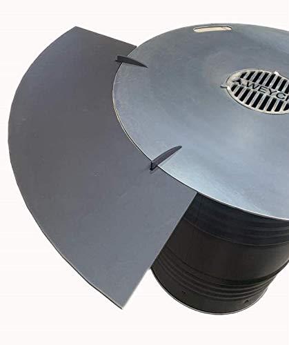 Tisch Anstecktisch Metall für 100cm Feuerplatte 25x115cm Grillplatte Grillring Feuertonne Grill BBQ 25