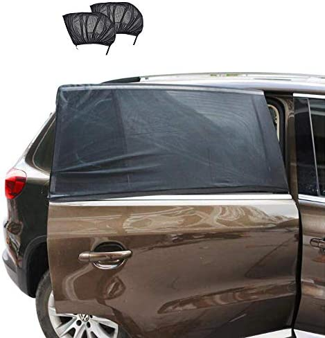 Car Window Shade Breathable Mesh Sun Shield Installed in Rear Side Window Protect Baby Pet from product image