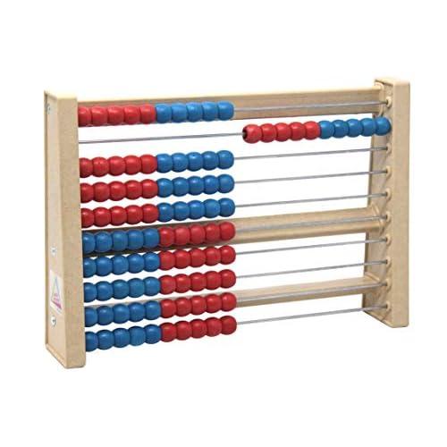 WISSNER® aktiv lernen - Abaco 100 numero spazio rosso/blu - RE-Wood®