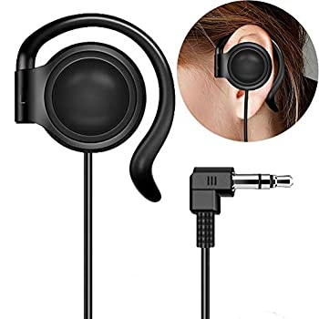 EXMAX 3.5mm Single Side Earphone Earbud One Ear Headphone for EXD-101 ATG-100T ELGT-470 Wireless Tour Guide System Receiver Touring Groups Radio Podcast Laptop MP3/4 Tablet PC Skype YouTube  Left