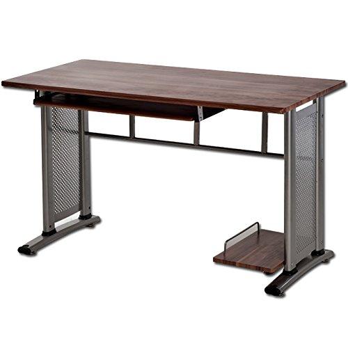 Tavolo porta computer in MDF scrittoio da ufficio finitura noce