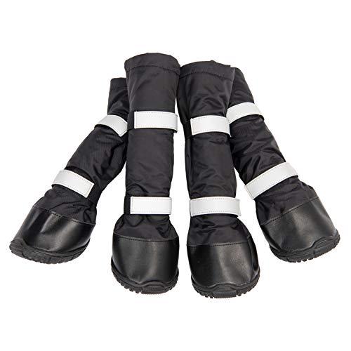 Hyindoor Chaussures Imperméable pour Chien Chaudes d'hiver Antidérapantes de Conception Bottes Longues Réfléchissante Conçues (#80)
