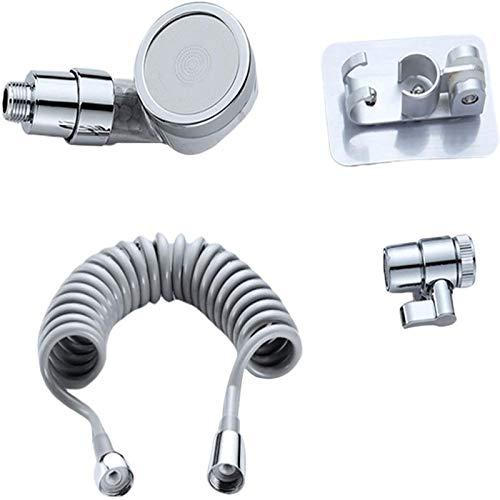Grifo ducha grifo mezclador cocina, cabezal de ducha portátil y juego de manguera con 3 modos de pulverización: convierte tu grifo en ducha para lavar el cabello, baño de bebé/lavado de mascotas.