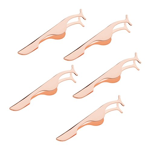 Sharplace 5x Faux Cils Applicateur Remover Brucelles Clip Nipper False Lashes Outil de Beaute pour Extension de Cils