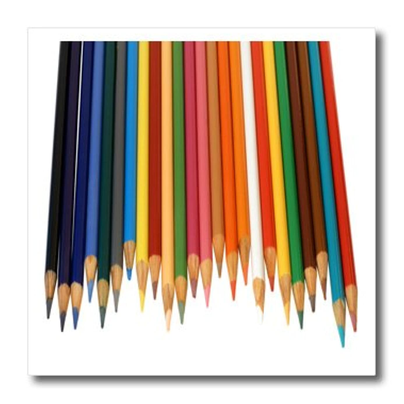 3dRose Colored Pencils-Iron on Heat Transfer, 8 by 8