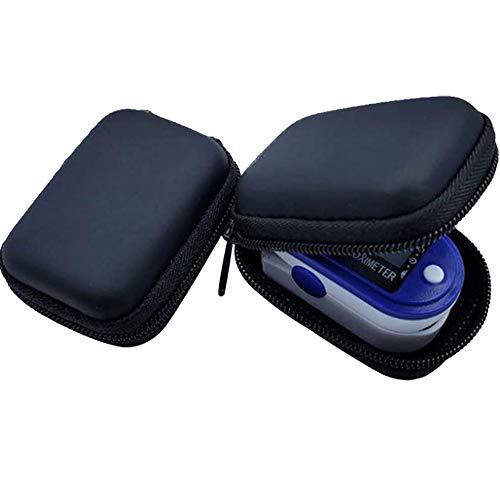 Aufbewahrungstasche Hard Storage Case Bag Organizer Portable Zippe Carry Pouch Box für Fingerspitzen-Pulsoximeter für Deluxe Blutsauerstoffsättigungs-Monitor Tasche Verpackungsbox (schwarz, S)