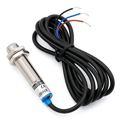 Heschen Interruptor inductivo del sensor de proximidad LJ12A3-2-Z/BX Detector 2mm 6-36 VDC 200mA NPN Normalmente abierto (NO) 3 cables