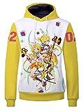 YOYOSHome Anime Hatsune Miku Sudadera con capucha vocaloide chaqueta de vestuario suéter polar - Multicolor - Large