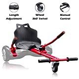 Hishine Hover Kart Hoverboard Seat Attachment for Self Balancing Scooter Adjustable Go Kart Hover Board Accessories for Kids Adults,...