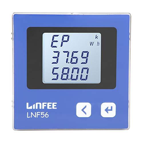 Akozon LNF56 Strom-Amperemeter 3-Phasen-Digital-LCD-Display Multifunktions-Elektroenergiezähler Energie-Energie-Multimeter Amperemeter Intelligent Instrument
