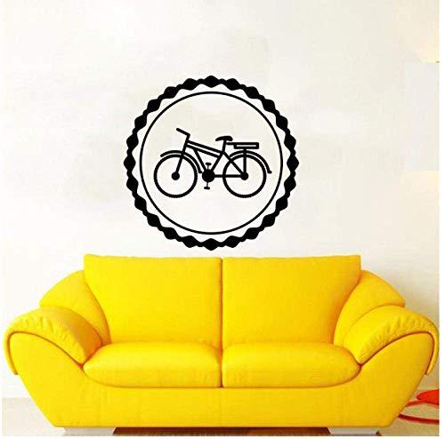 Calcomanías Adhesivas Wallpaper 56Cm * 56Cm Bicicletas Vintage Decoración Etiqueta De La Pared Pvc Sala De Estar El Dormitorio