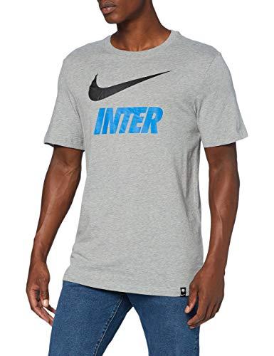Nike Inter M Nk Tee Tr Ground, T-shirt Uomo, Dk Grey Heather, M