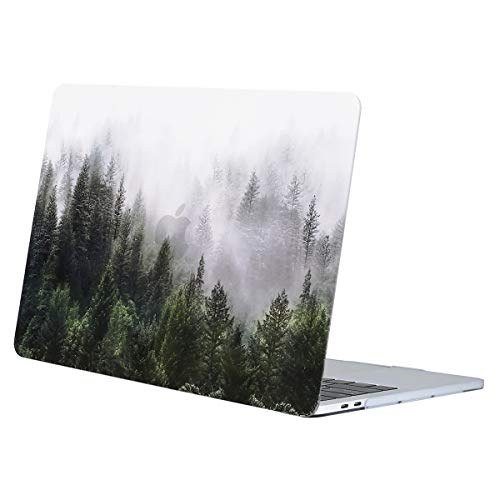 MOSISO MacBook Pro 13 inch Case 2016-2019 Release A2159 A1989 A1706 A1708, Plastic Pattern Hard Case Shell Cover Compatible with MacBook Pro 13 with/without Touch Bar, Green Forest