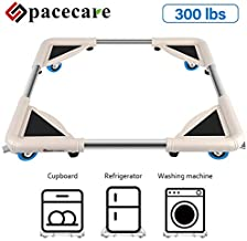 SPACECARE Mobile Roller with 4 Locking Wheels - Adjustable Furniture Dolly Washing Machine Stand Refrigerator Base Moving Cart
