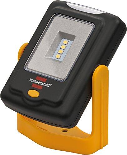Brennenstuhl LED Taschenlampe / SMD LED Arbeitsleuchte in praktischem Taschenformat mit bis zu 24h Leuchtdauer (200+20lm, 360° drehbar, einklappbarer Haken, vielseitig einsetzbar)