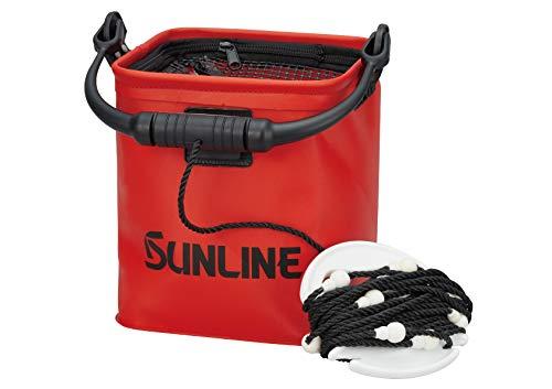 サンライン(SUNLINE) メッシュトップバケツ SB-551 レッド