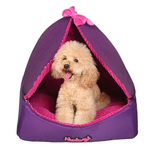 BANANAJOY Haustiere Betten, Haustier-Zelt Vier Jahreszeiten verfügbar Zwinger Kleiner Hund Haustier-Bett-Winter-warmes...