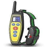 ZCAYIN Dispositivo adiestramiento canino 2 en 1 + tapón de ladridos, Collar de Entrenamiento de Mascotas Impermeable Recargable automático y con Control Remoto, La Distancia es 800 Metros. Mascotas