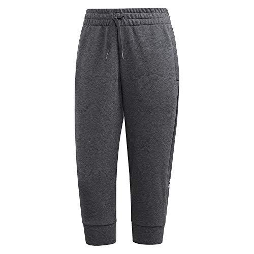 adidas Damen Hose Essentials Linear 3/4, Dgreyh/Prptnt, M, FM6817