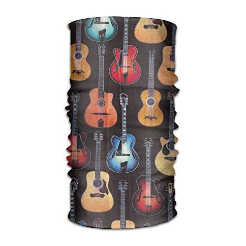 Lmtt Schöne Gitarre Bandanna Kopfbedeckung Hals Gamaschen Variety Scarf Wrap