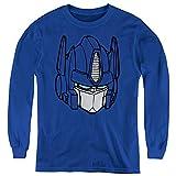 Transformers Kids Long Sleeve Shirt Optimus Prime Face Royal, LG