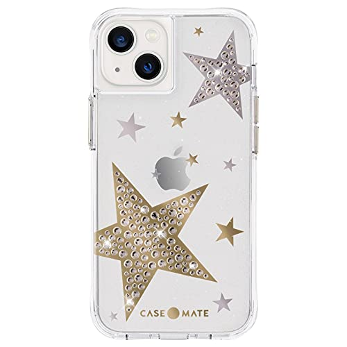 Case-Mate - Sheer Superstar - Case for iPhone 13 - Rhinestone Stars - 10 ft Drop Protection - 6.1 Inch - Clear Superstar