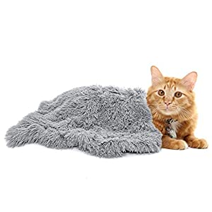 Ompaa Fluffy Pet Dog Blankets for Medium Large Dogs and Cats, Soft Plush Faux Fur Puppy Snuggle Blankets, Designed for Donut Cuddler Dog Bed, Self-Warming, Machine Washable