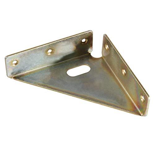 Winkelverbinder Stahl verzinkt Bettverbinder 94x94x24mm für Innen- & Außenbereich
