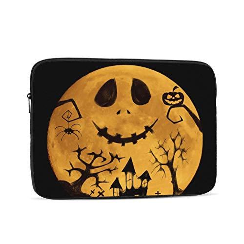 10'' 12'' 13'' 15'' 17'' Halloween Pumpkin Laptop Shoulder-Bag - Canvas Computer Tablet Protective Carrying Case Notebook Briefcase