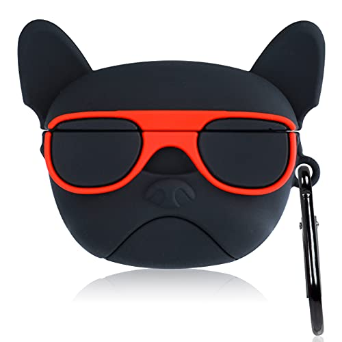 Oqplog Silicone Case for AirPod Pro Cartoon Funny Trendy Cute Design Fun Cover for Girls Boys Teen Fashion Cool Hypebeast Unique Designer 3D Animal Cases for AirPods Pro Air Pods Pro - Glasses Dog