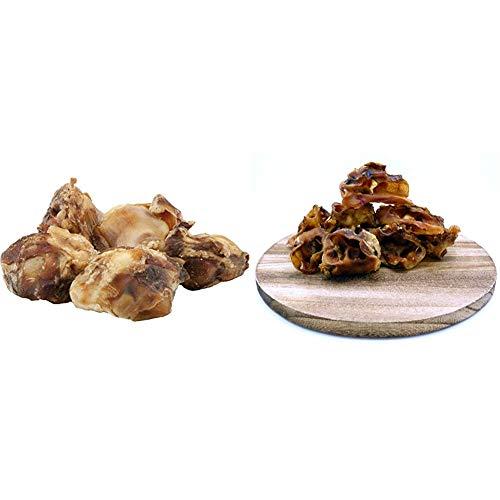EcoStar Snack Rinderkniescheiben, 1er Pack (1 x 1 kg) & Hunde Snack Schweineohrmuscheln 1kg, 1er Pack (1 x 1 kg)
