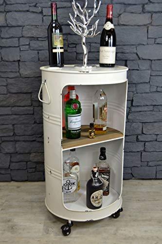 Livitat® Minibar Hausbar Regaltonne Ölfass H80 cm Industrie Look Loft Vintage LV5025