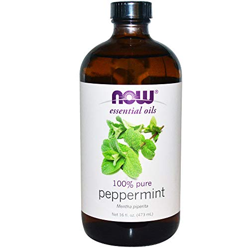 NOW Essential Oils - Peppermint Oil (100% Pure) - 16 fl. oz (473 ml) by NOW