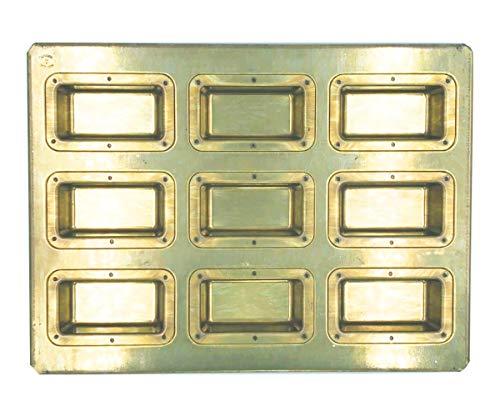 松永製作所 シリコン加工 黄金深型フィナンシェ天板9P ゴールド MS13