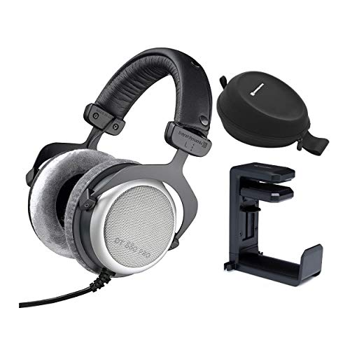 Beyerdynamic DT-880 PRO 250Ohm Studio Headphones with Beyerdynamic DT Hardcase and Knox Gear Headphone Mount Bundle (3 Items)