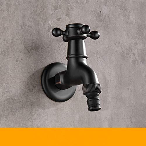 Dusche LKU Moderne schwarze Bronze einzelne kalte Wasserhahn Außenarmatur Gartenwand Bibcock Wasserhahn Badezimmer Waschmaschine Mopp Wasserhähne, DX04B