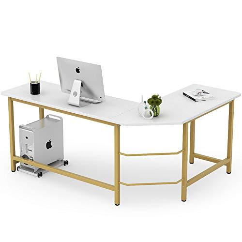 Tribesigns Modern L Shaped Desk, Corner Computer Office Desk PC Laptop Gaming Table...