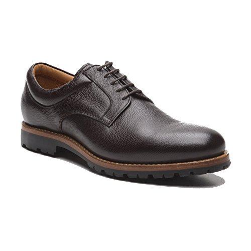 Prime Shoes Moskau Braun Buffalo Testa di Moro Plain Derby Rahmengenäht edler klassischer Schnürschuh feinstes Kalbsleder D 47 / UK 12