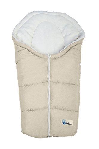 Altabebe AL2009P-08 Winterfußsack Alpin Kollektion für Babyschale, beige-whitewash