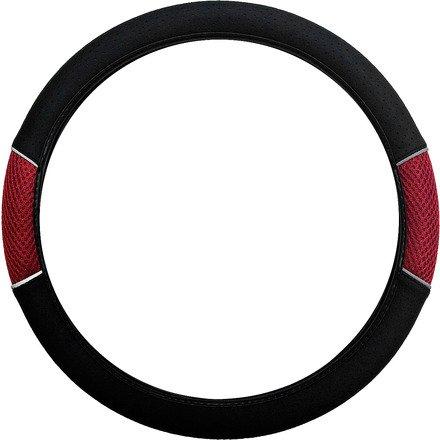 Xtremeauto© Carnaby Red/Black Steering Wheel Cover For ASTRA, OMEGA, FRONTERA, CORSA, CAVALIER ADAM, MERIVA, MOKKA, SIGNUM, VECTRA, NOVA