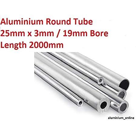 Round Tube Raw Aluminium 10 x 1 mm 1 m