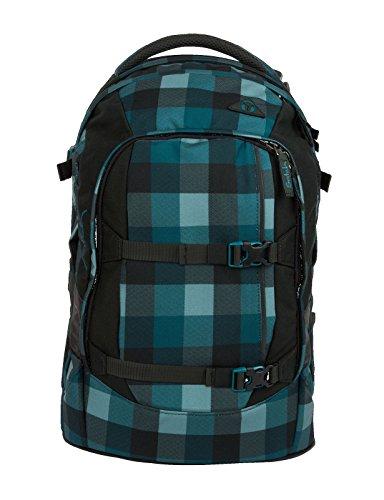 satch pack Blue Bytes 5er Set Rucksack, Sporttasche, Schlamperbox, Heftebox & Regencape Schwarz